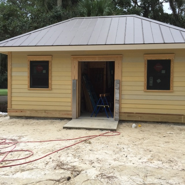 Restroom with Siding